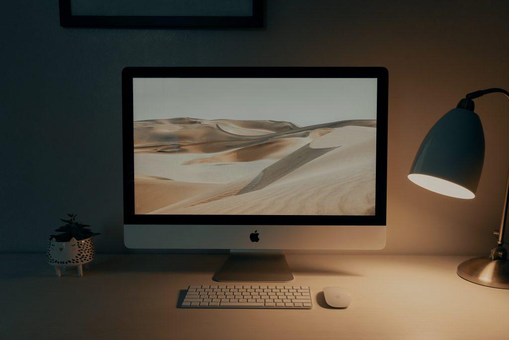 Klassisches TFT-Display eines Macs